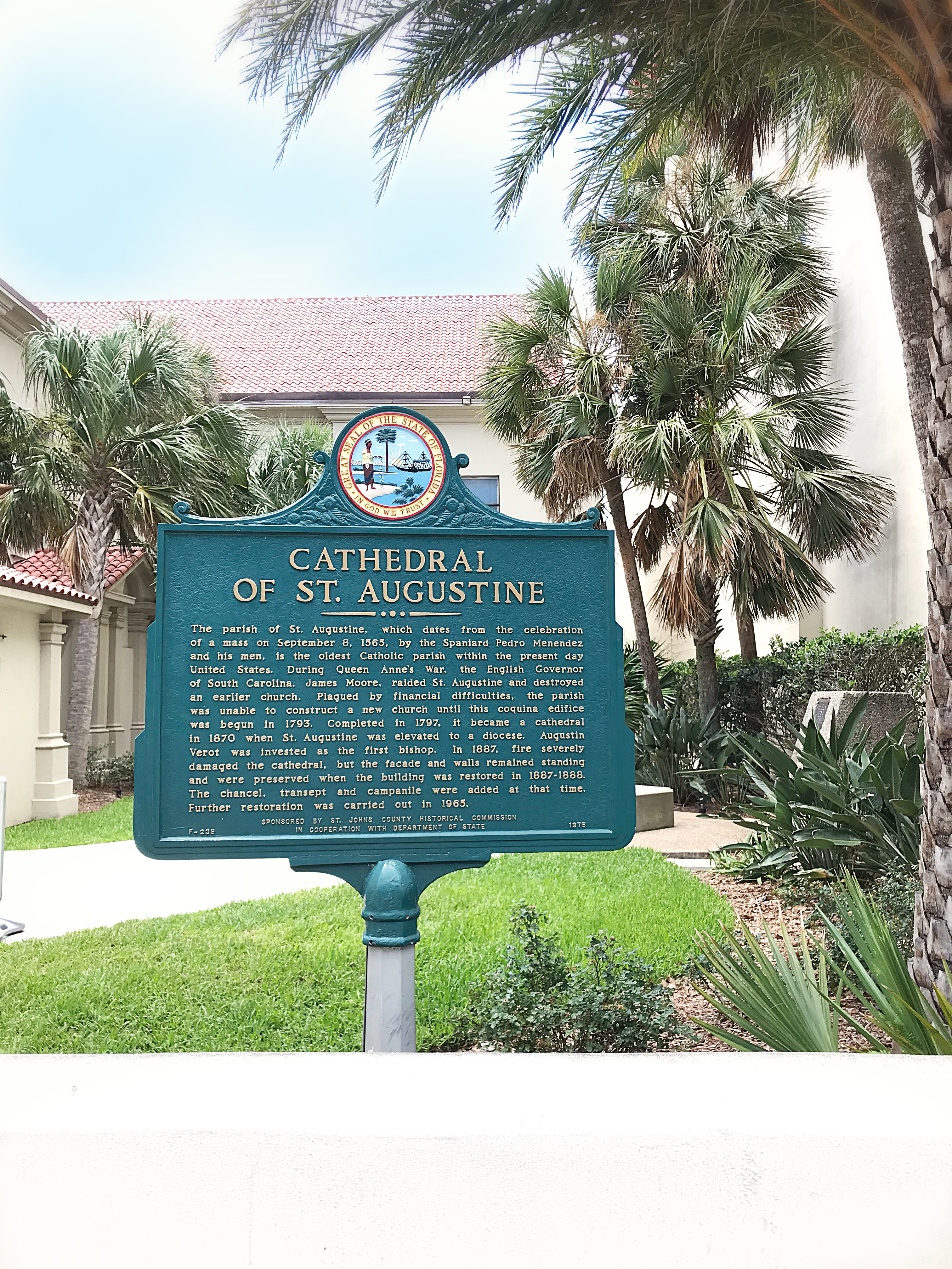 Cathedral of st. Augustine, history tour st. augustine