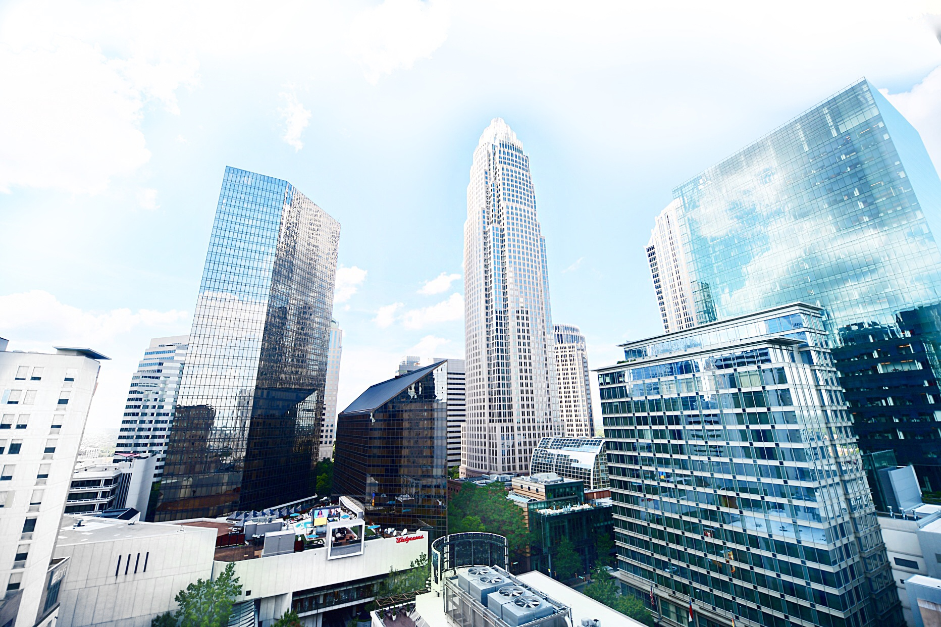 AC Hotel Charlotte City Center, AC Hotel Charlotte, AC hotel Marriott, AC Hotel room views, Uptown Charlotte view, Nuvole Rooftop views